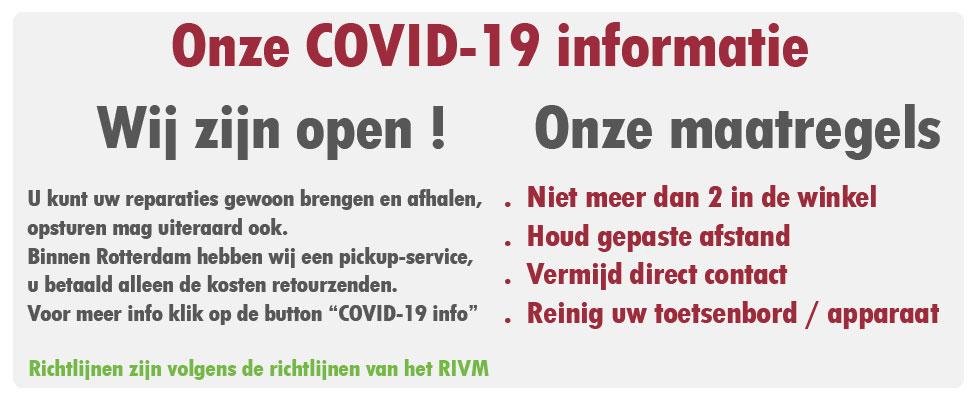 Alfacom COVID-19 informatie