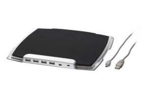 Gembird muismat met USB 2.0 hub