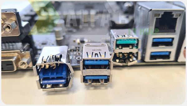 USB poort reparatie Alfacom-IT