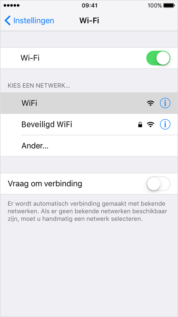 iphone ios9 wifi network